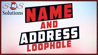 DIY Credit Repair Name and Address Loophole