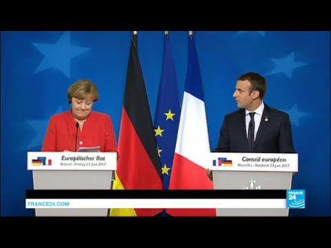REPLAY - Allocution commune d'E. Macron et A. Merkel