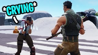I ACCIDENTALLY Made a Kid Start CRYING on Fortnite...