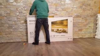 Sony Bravia 4k HDR 65 inch zoll Ultra HD unboxing XD85