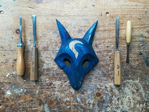 Carving Kindredʻs Mask (Wolf) | Wood Carving