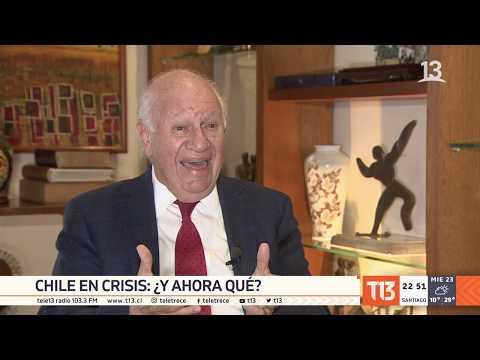 La crisis en los ojos del ex Presidente Ricardo Lagos