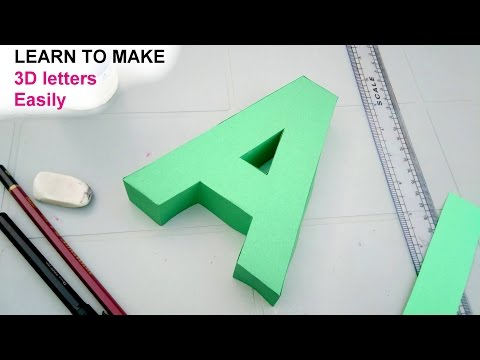 how to make 3d letters from paper, letter A