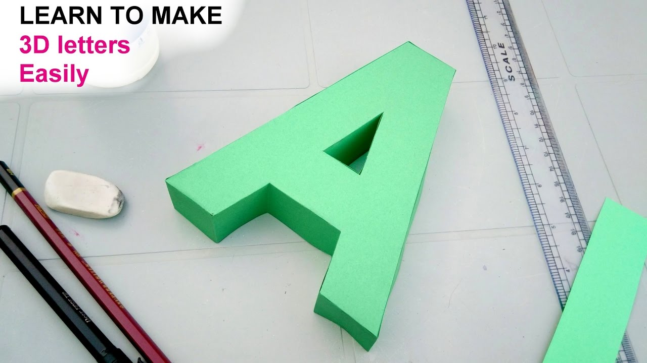 How To Make Letters On Paper