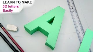 Learn to make 3d letters from paper, letter A