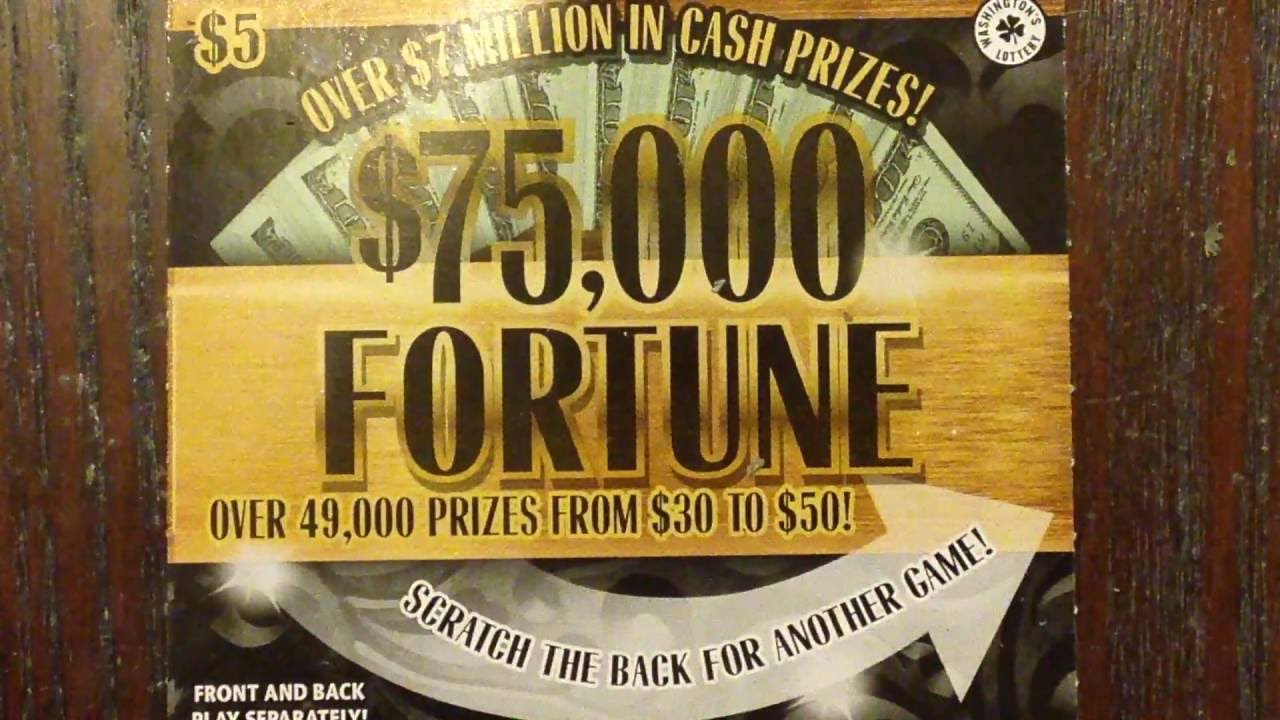 $5 Jackpot Riches, $75K Fortune, $2 Lady Luck Washington Lottery Scratch  Off Tickets by Texan Candy