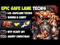 OMG Most Scary Safe Lane Techis Right Click Build - By Top 1000 Immortal Pro Gameplay Dota 2