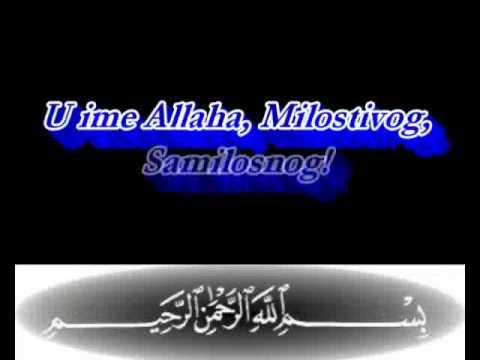 1 Al Fatiha Prevod Na Bosanski