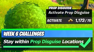 Prop Disguise LOCATION & Stay within 20m of a player for 3 seconds while wearing a Prop Disguise
