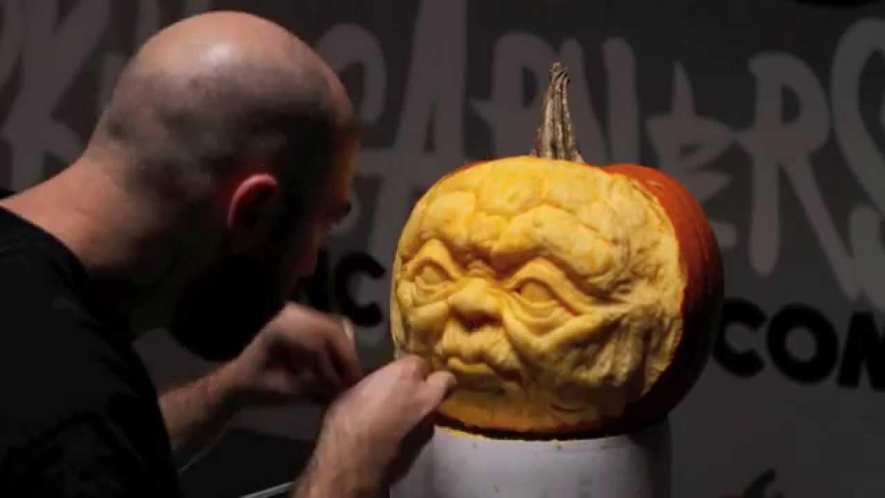Yoda pumpkin carving hd youtube