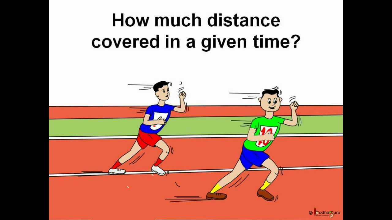 Science - Motion - Speed and its calculation - English ...