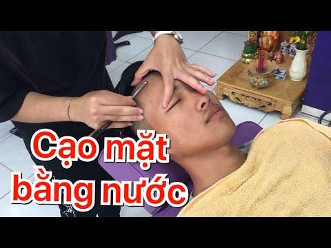 Hướng dẫn caoj mặt, massage mặt, cạo viền chân tóc| Ngọc tóc