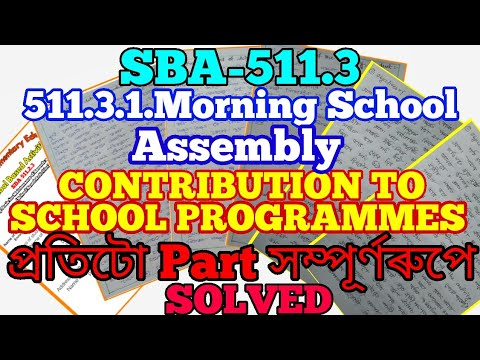 511.3-CONTRIBUTION TO SCHOOL PROGRAMMES  511.3.1 Format for Organising the Morning School Assembly.