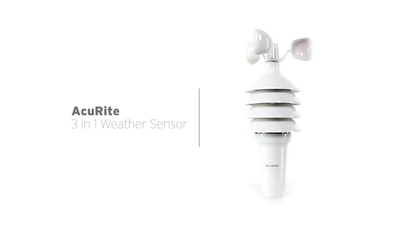 acurite 3 in 1 weather sensor youtube