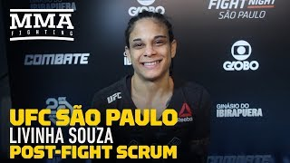 UFC Sao Paulo: Livia Souza Explains Debut Victory Celebration in Honor of Late Father - MMA Fighting