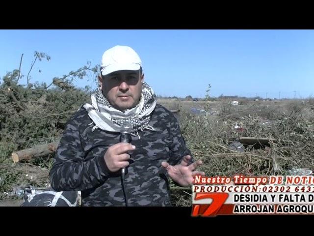 Arrojan agroquimicos en predio municipal   Realicó