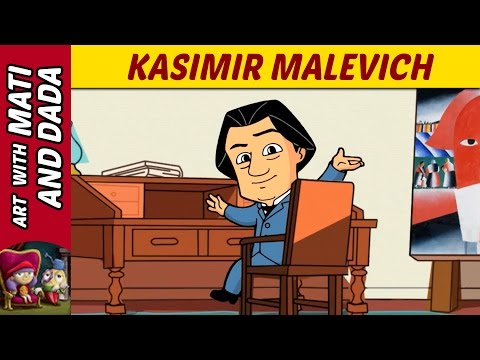 Art with Mati and Dada –  Kasimir Malevich   Kids Animated Short Stories in English