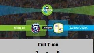 Arema FC Vs Barito Putra 1 - 0, All Goal And Statistik