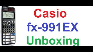 Casio fx-991EX Classwiz Scientific Calculator - Unboxing and First Review(My Casio Scientific Calculator Tutorials- http://goo.gl/uiTDQS This is the unboxing and first review video of latest scientific calculator, Casio fx-991EX Classwiz ..., 2015-12-03T17:06:24.000Z)