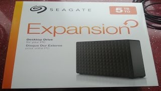 Seagate Expansion 5TB USB 3.0 Desktop Hard Drive - Speedy Unboxing from Argos