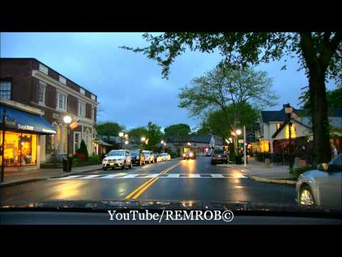 Falmouth, MA  Evening Drive, Main Street