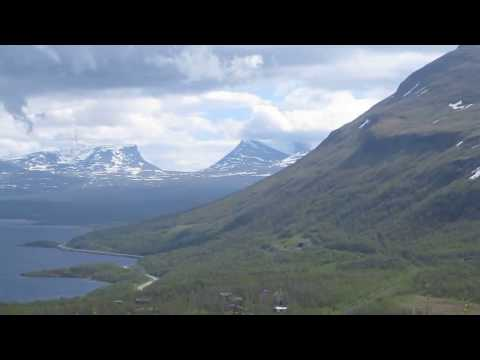 View of Abisko Nationalpark in Sweden June 22nd 2016.