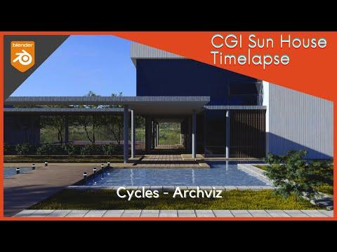CGI - Timelapse Sun House Archviz