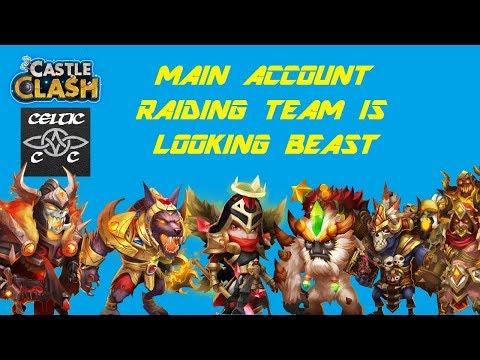 Main Account Raiding Team Is Looking BEAST!!!!  Castle Clash