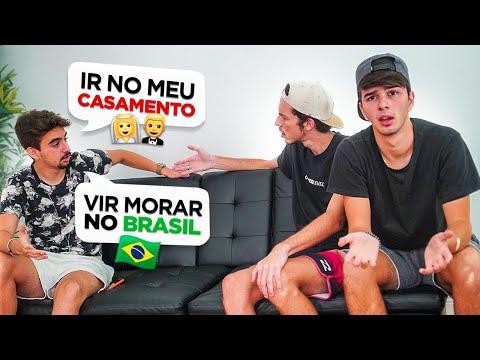 ELE VEIO DO BRASIL SÓ PARA NOS FAZER ESSE CONVITE! ( inacreditável )