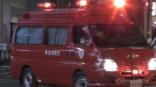 JR秋葉原駅の救助活動へ出動した、鍛冶町1と神田指揮隊車。先着隊は神田...