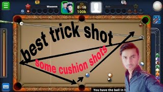 (8Ball Pool)  Some tricks shots and cushion shots
