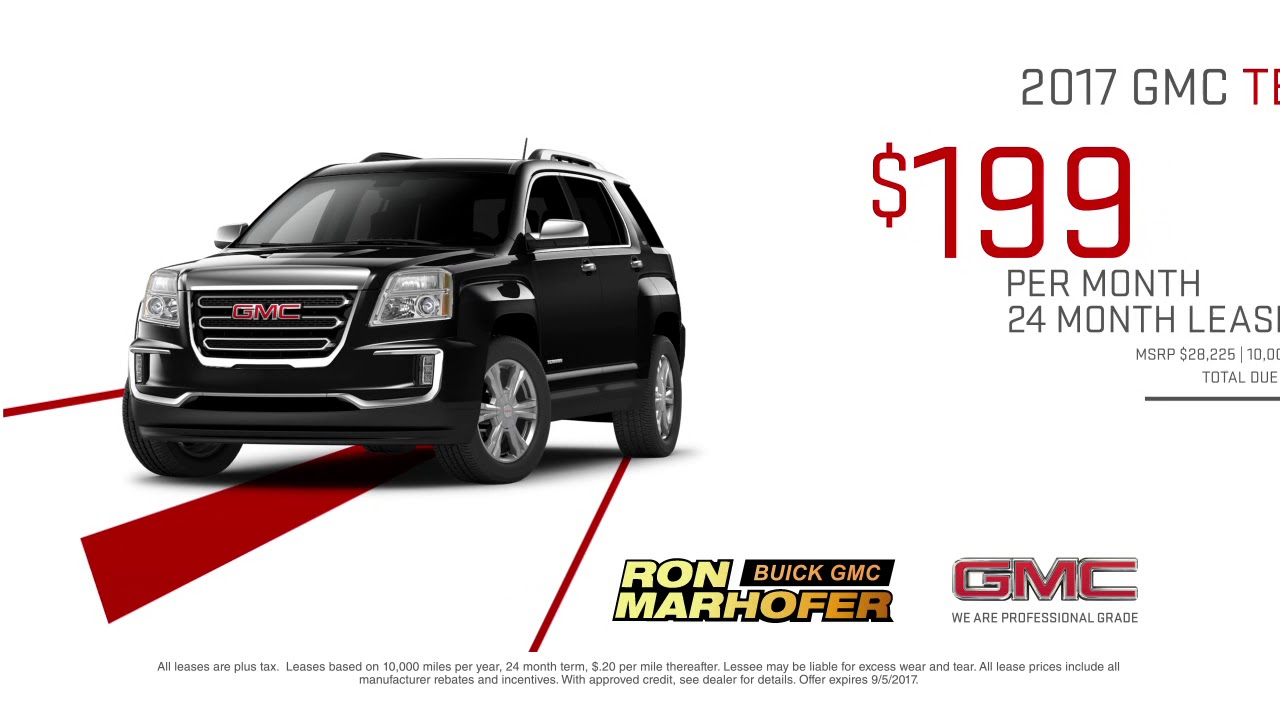 Ron Marhofer Buick Gmc August Specials