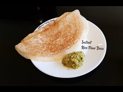 Rice Flour Dosa-Instant Dosa Recipe With Rice Flour,Curd-Instant Breakfast Recipes South Indian