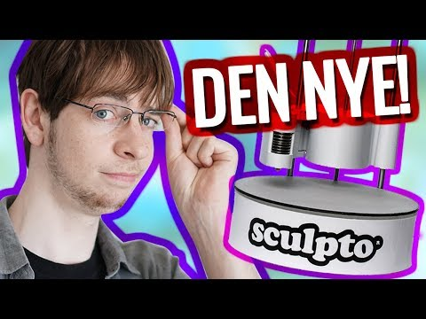 Den nye Sculpto 3dPrinter :o? Unbox + Test
