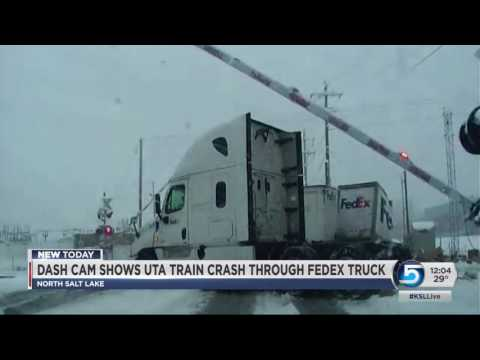 Thumbnail: A video is released of an accident involving a FrontRunner train and a FedEx truck