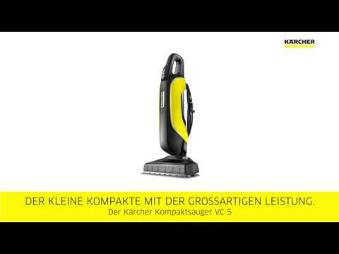 k rcher staubsauger vc 5 minisauger mit monsterkraft youtube. Black Bedroom Furniture Sets. Home Design Ideas