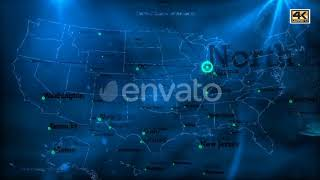 USA Map 4K   Motion Graphics - Videohive template