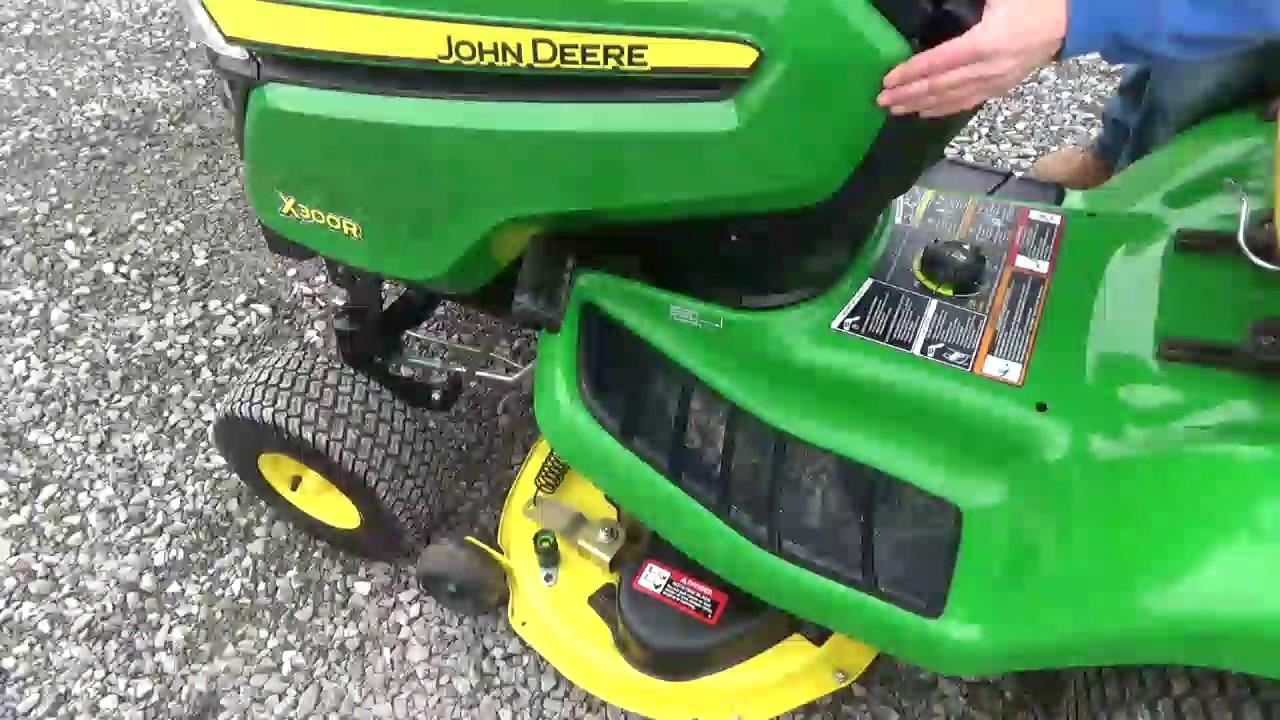 2014 john deere x300r garden tractor 42 rear discharge. Black Bedroom Furniture Sets. Home Design Ideas