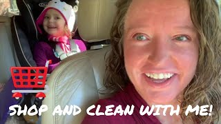SHOP AND CLEAN WITH ME | DITL | Vlogtober Day 21
