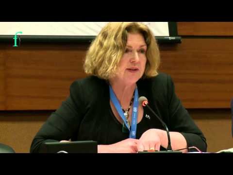 Mary Lawlor Speaking at Front Line Defenders Side Event - Geneva, 10 March 2014
