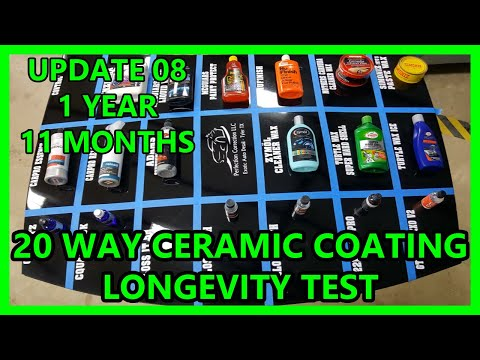 UPDATE 07: 20 way Ceramic Coating synthetic wax longevity test Perfection Correction LLC