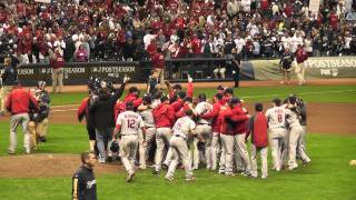 St. Louis Cardinals celebrate 2011 NL Championship - Game 6 NLCS