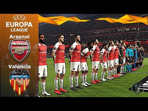 Arsenal Vs Valencia • Europa League (Match Di Andata) •  PES 2019 Patch [Giù]
