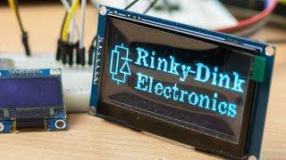 """Огромный OLED экран 2.42"""" на контроллере SSD1309, обзор и подключение к Arduino"""
