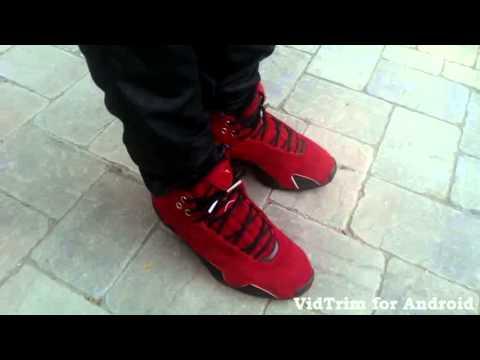 red suede air jordan 21 on feet