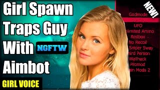 Black Ops 2 Girl Spawn Traps Guy With UNFAIR AIMBOT! (Girl Voice Trolling) XBOX ONE!
