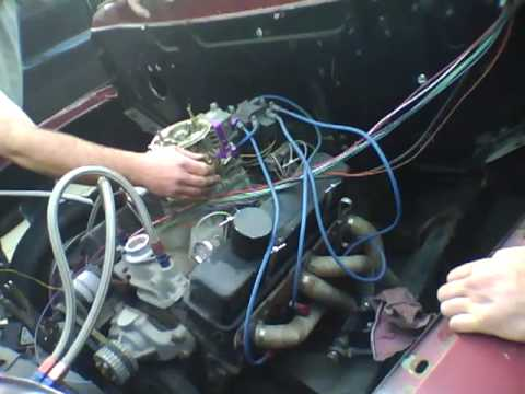 1953 ford f100 V8 with a small block chevy - YouTube