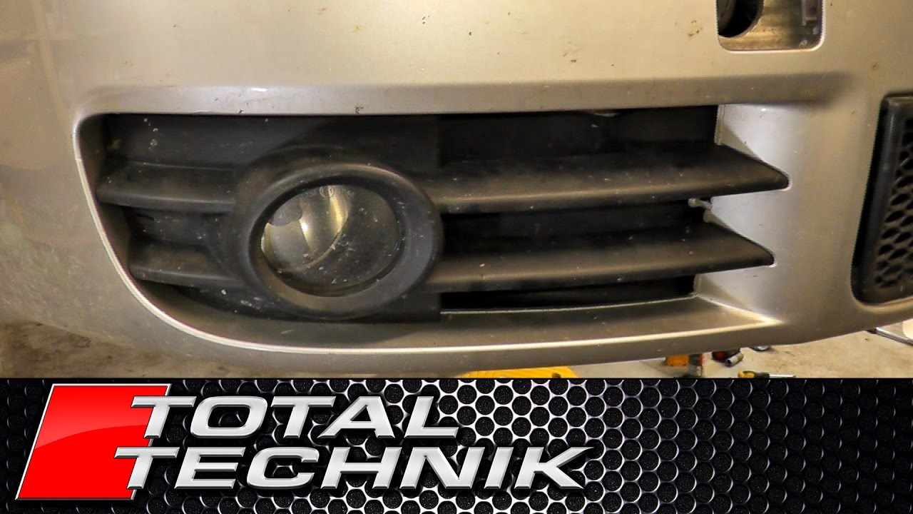 How to Remove Fog Light Grille - Audi A4 S4 - B6 - 2001-2005 - TOTAL TECHNIK