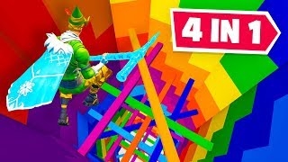Fortnite 4 In 1 Rainbow  Dropper Challenge!