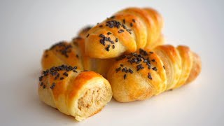 Пирожки с мясом + Рецепт песочно-дрожжевого теста без яиц. Вариант 2